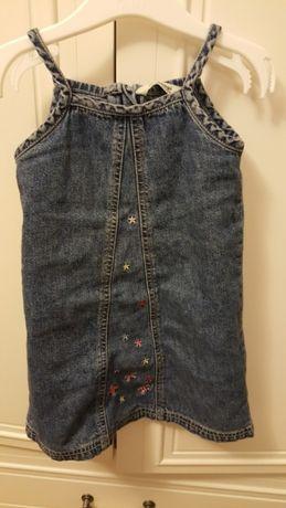 Sukienka dżinsowa 86 rozmiar