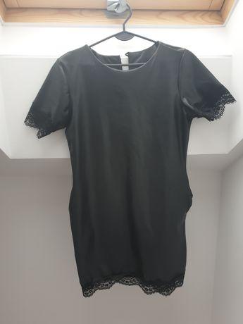 Sukienka z eko skóry - M