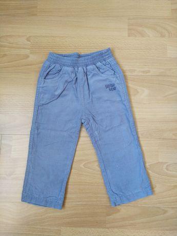Вельветовые джинсы с подкладкой, штанишки, размер 86