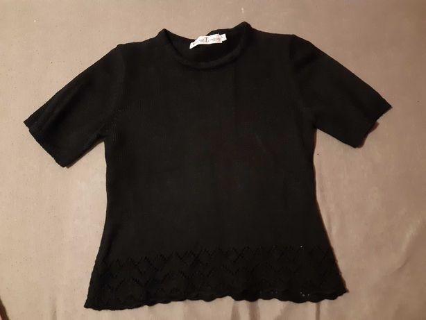 Bluzka czarna z dzianiny S/M