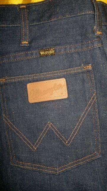spodnie jeans -WRANGLER-rozmiar-M pas do 90cm-długość-110cm