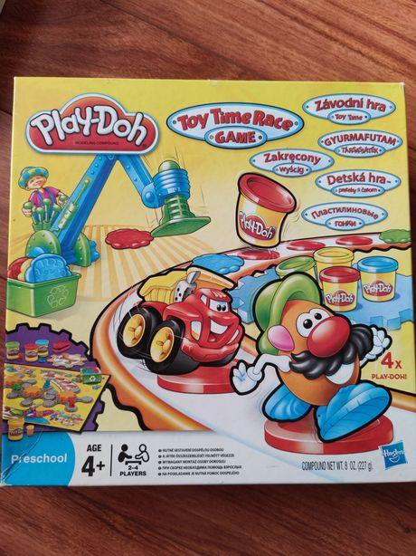 Gra planszowa play-doh zakręcony wyścig