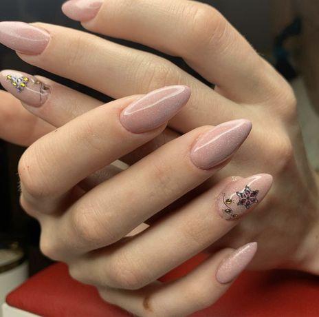 Маникюр Наращивание Коррекция нарощенных ногтей покрытие гельлак luxio