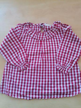 Blusinha Xadrez vermelho e branco