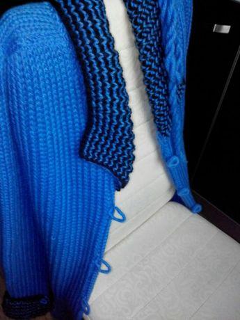 Стильное вязаное пальто. Кардиган.