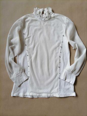 Нарядная школьная блузка на девочку 9-11 лет