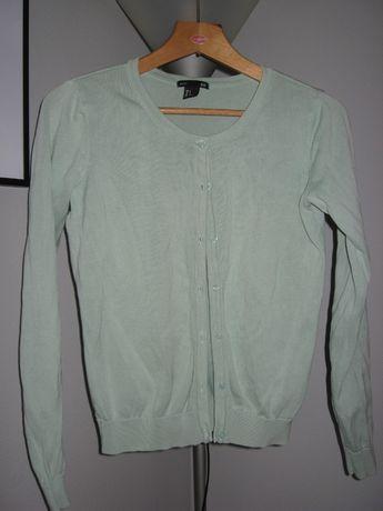 Miętowy sweterek H&M roz. S