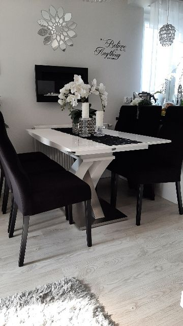 Krzesła 6 szt czarne tapicerowane