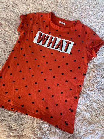 T-shirt / koszulka / bluzka czerwona w kropki - What - HIT!