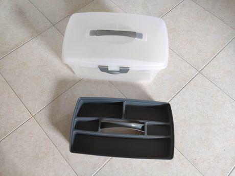 Caixa costura ferramentas arrumação