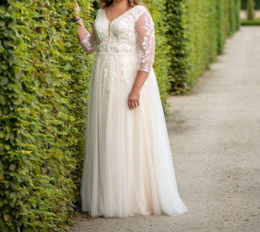 Suknia ślubna - plus size - szyta na miarę - model Bacci Margarett