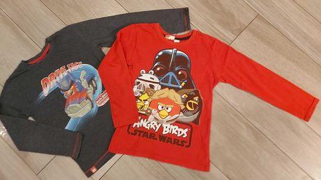Bluzka tshert długi rękaw roz 122/128 Angry Birds Star Wars