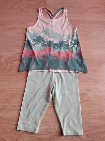 Komplet na lato r. 110 116 Coccodrillo H&M jak nowe getry i bluzka