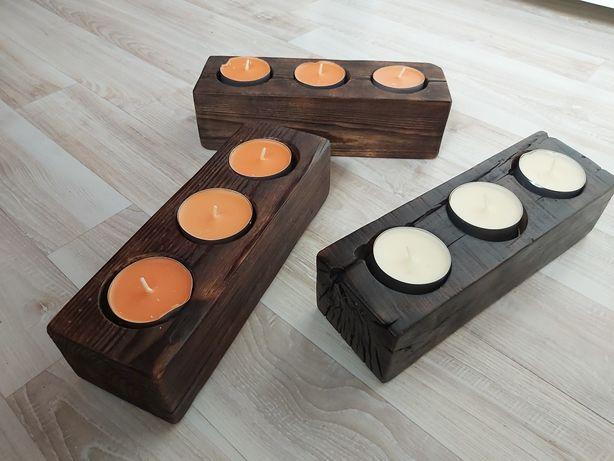 Świeczniki drewniane