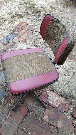 Stare krzesło/fotel obrotowy z PRL