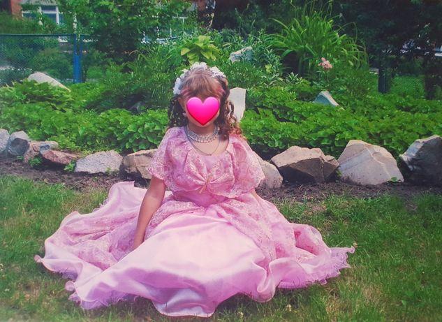 Платье принцессы на девочку 5-7лет