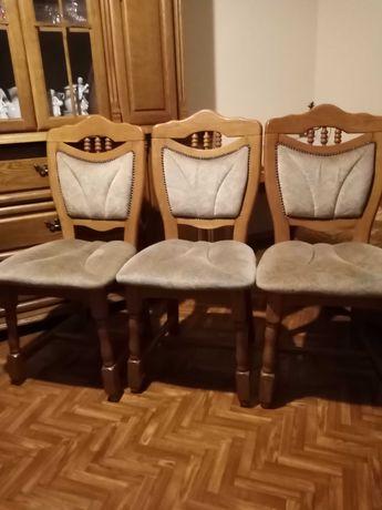 3 krzesła dębowe