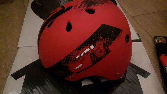 Zestaw rowerowy, na rolki Cars - kask 54-58cm, ochraniacze, rękawiczki