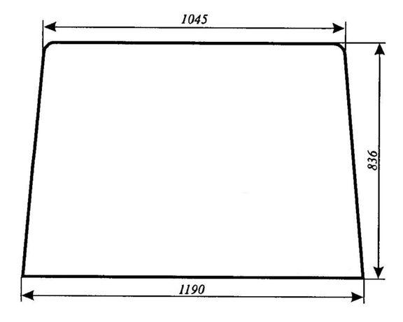 Szyba przednia Ursus 1634 ACX177