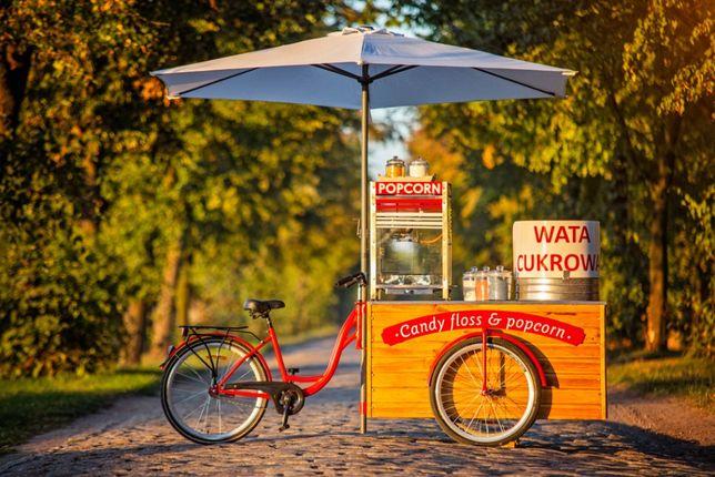 Candy Bike Wata cukrowa POPCORN Lemoniada eventy imprezy piknik wesele