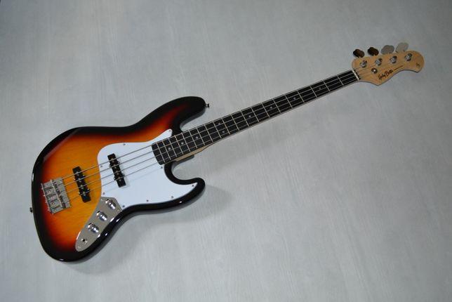 Harley Benton JB-20 SB Sunburst NOWA gitara basowa -setup gratis!