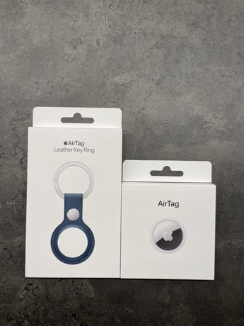 Airtag + Leather Key Ring