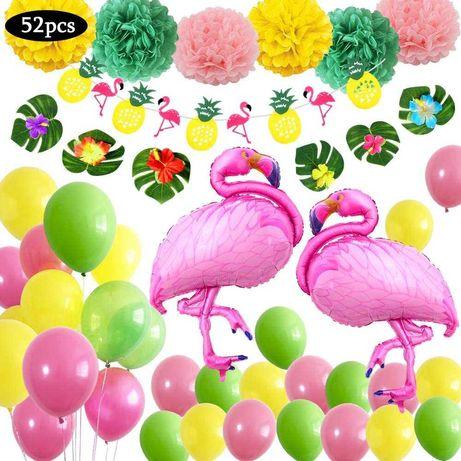 Kit decoração festa aniversário Animais Flamingos Balões-portes grátis