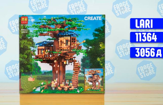 """Конструктор Lari Minecraft 11364 """"Дом на дереве"""", 3056 эл, лего"""