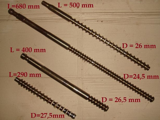 Протяжка из быстрорежущей стали Р6М5 (Диаметр 24,5 - 27,5 мм)