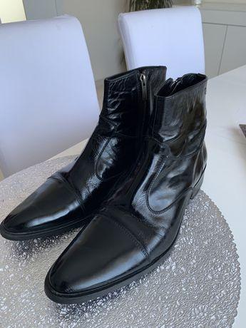 Ботинки полусапоги лаковая кожа Италия 41-42р Pedro Camino