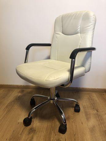 Fotel burowy krzesło obrotowe białe