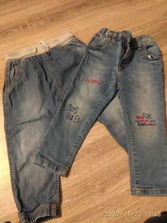 Spodnie jeansy roz. 92