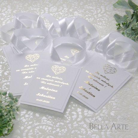 Złocone Zawieszki na alkohol na wódkę weselną wierszyki Klasyczne HIT