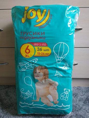 Подгузники-трусики Joy размер 6, ребенок 15-26 кг
