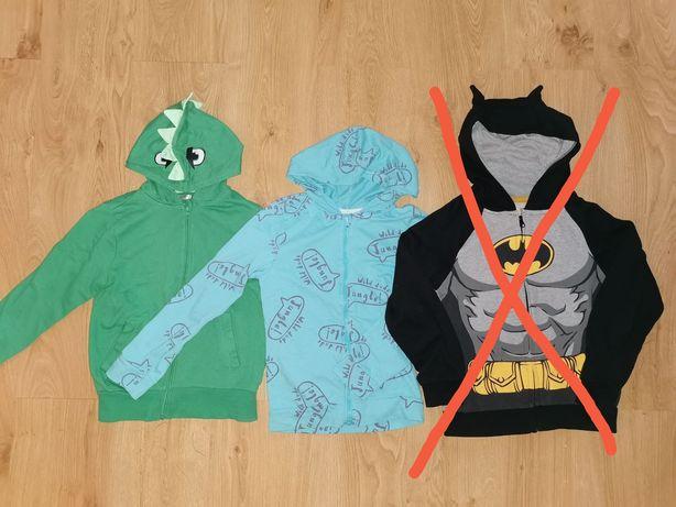 2x bluzy CAŁOŚĆ 10 zł dla chłopca smok dinozaur roz. 128
