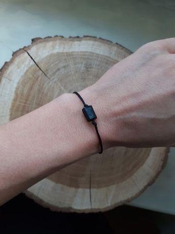 minimalistyczna bransoletka z czarnym turmalinem