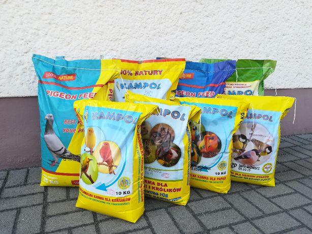 Karma dla gołębi, papug i nie tylko marki Kampol oraz Mrowca