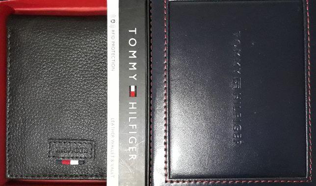 TOMMY HILFIGER Oryginalny Meski Portfel Skorzany RFID Czarny w Pudelku