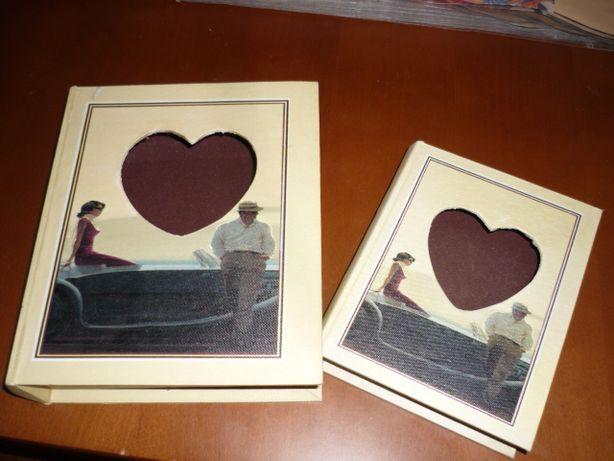 Dwie książki szkatułki, pudełka-cena za 2 sztuki-komplet, na prezent