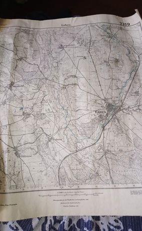 Stara mapa Łobza