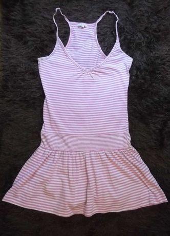 Vestido verão rosa e branco. Como novo