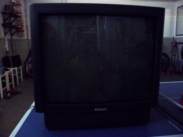 TV Philips vintage com comando