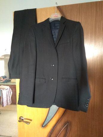 Костюм чёрный двойка брюки Пиджак выпускной 42 Италия Antoni Zeeman