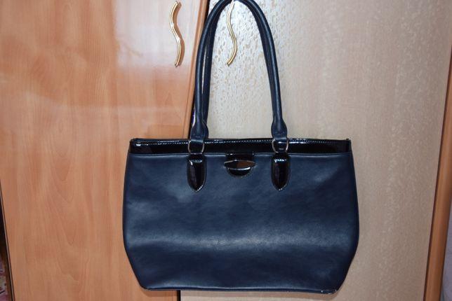 Женская сумка темно синяя
