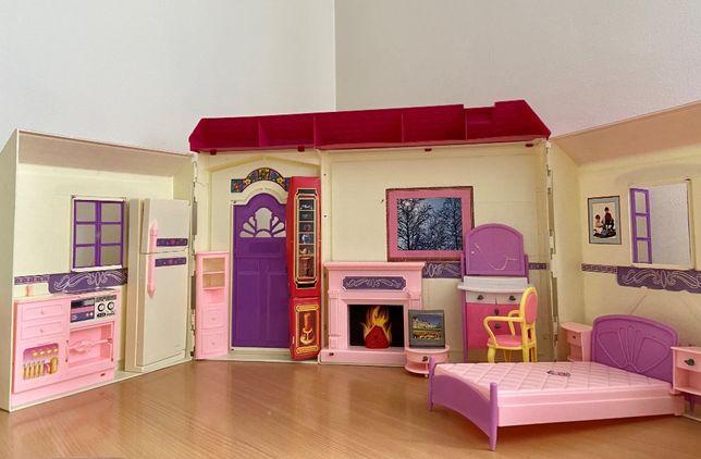 domek dla lalek otwierany z dzwonkiem kuchnia sypialnia salon