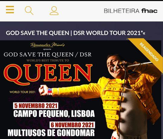2 Bilhetes God Save The Queen