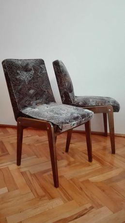 krzesło krzesła PRL 4 szt. Aga proj. Chierowskiego, Vintage, fotele