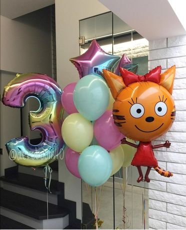Повітряні кульки з гелієм, воздушные шарики (шары) с гелием