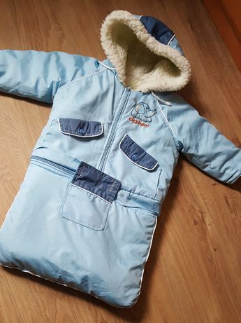 Комбинезон конверт куртка зимняя трансформер