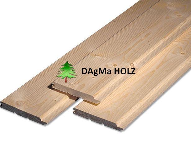 Podbitka drewniana 19x146mm Klasa AB, Świerk - Faza, Trapez, Softline